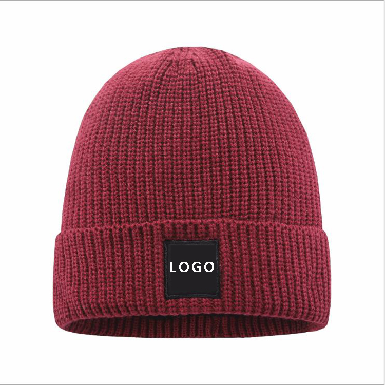 Beanie Men Women - Unisex Cuffed Plain Skull Knit custom logo label Hat winter Cap