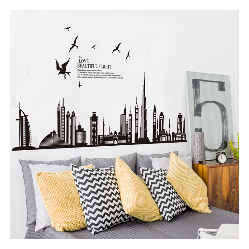 New York City Skyline Vinyl Wall Art City USA Vinyl Print Decal Sticker Heaven