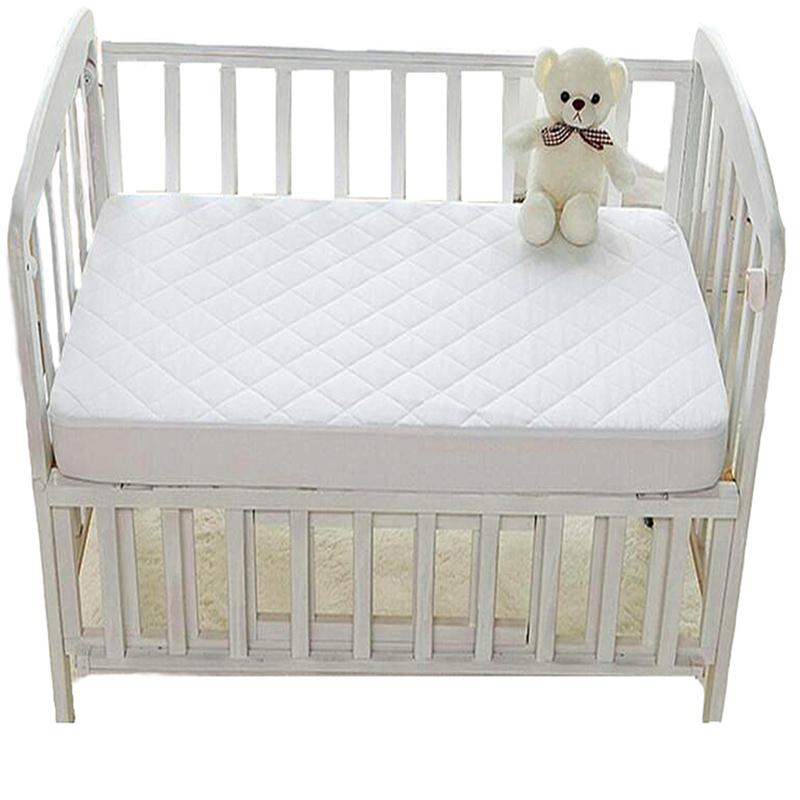 Cot bed fire retardant baby mattress pad cover waterproof