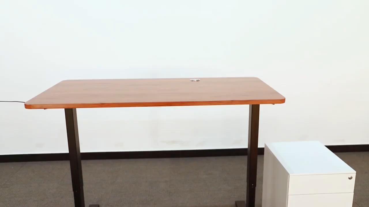 Vansdesk inteligente de oficina mesa de 2 patas en forma de L Super escritorio mesa en forma de S marco altura eléctrico ajustable escritorio de la computadora de ascensor