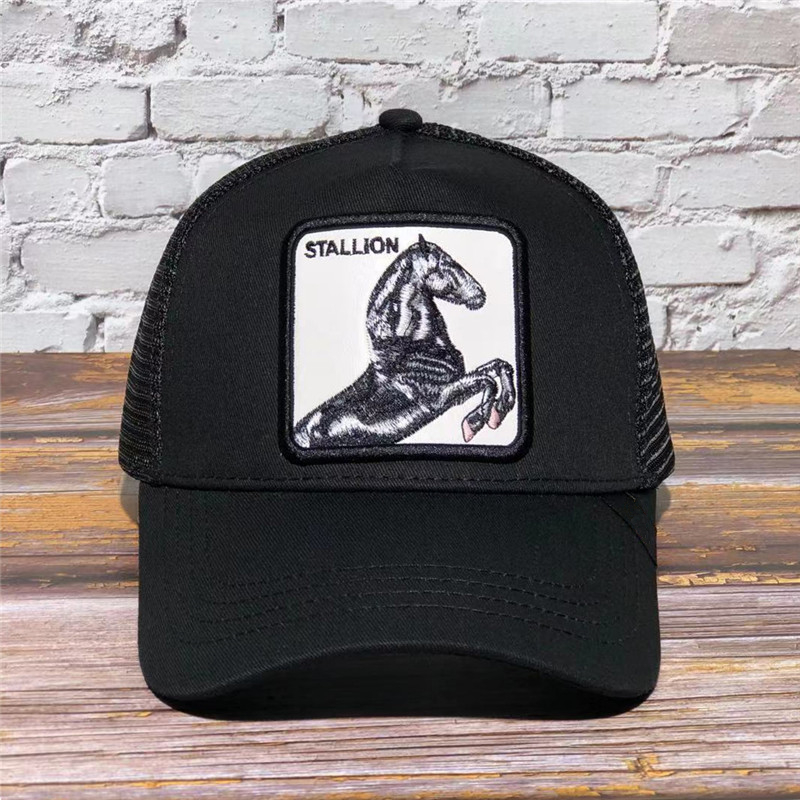gorras STALLION animal 5 panel men hip hop cap hat snapback caps Trucker Cap sport dad custom logo embroidery baseball cap