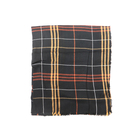 Scarves Wholesales Hot Sale Stylish Custom Print Black Checked Cotton Scarf