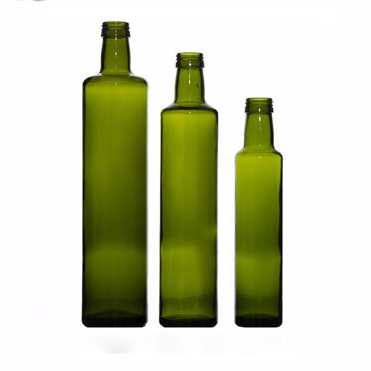 750 Ml 1000 Ml Kosong Hijau Tua Kaca Botol Minyak Zaitun untuk Cuka