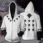Wholesale Custom Best Custom Logo 100% Polyester Anime Naruto Mens Hoodie with Zipper