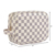 Luxury checkered plain PU vegan leather cosmetic toiletry travel bag