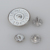 Silver metal shank buttons with painted color for decorative jeans