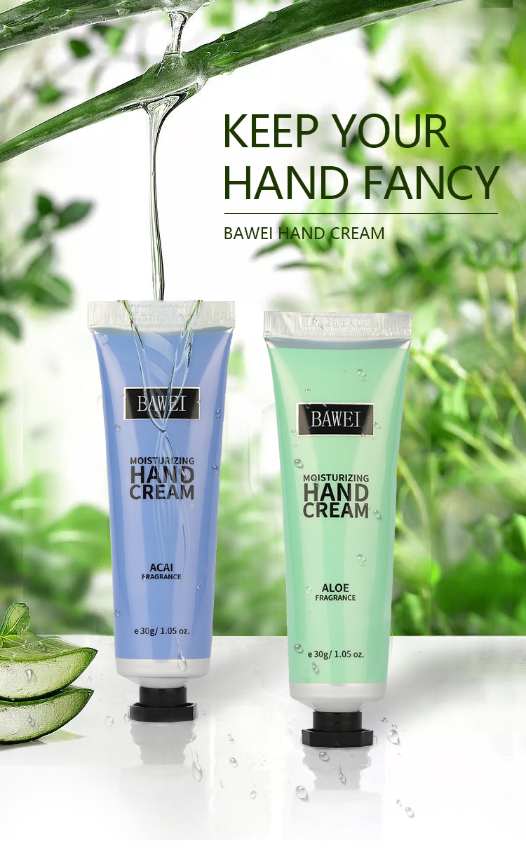 Korean Natural Anti Aging Snail Cute Handcream Foot and Hand Whitening Moisturizing Travel Hand Cream Private Label for dry skin