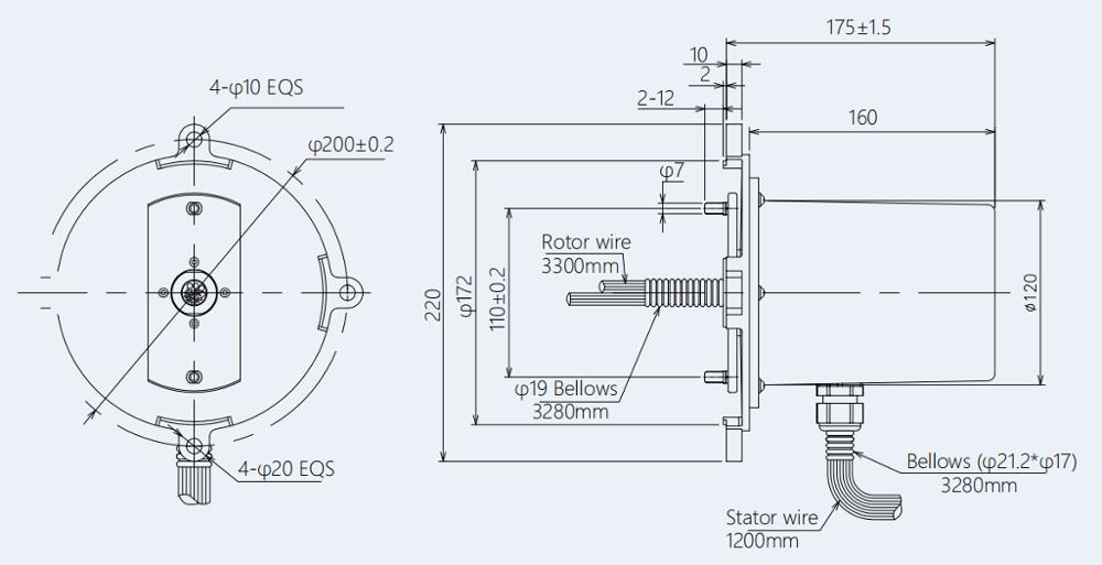 36VDC a través del anillo colectando del agujero, 14 maquinaria de construcción del anillo colectando de la grúa del circuito IP65 0