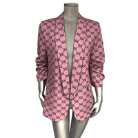 ladies women classic long sleeve plaid blazer high quality suits of Italy style
