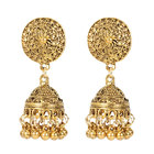 Jewellery Royal Alloy Antique Gold Plated Long Retro Jumka Earrings Indian Traditional Jewellery