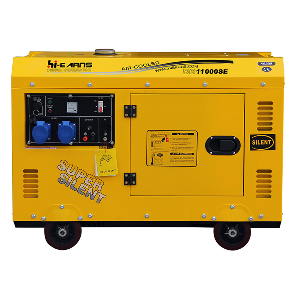 New developed Air-cooled single cylinder 198 8kva silent diesel generator