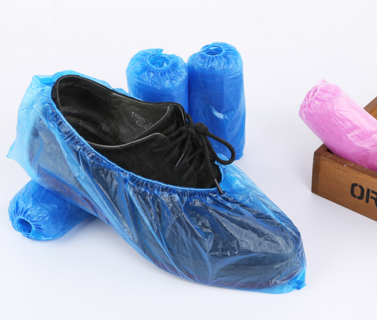 Disposable elastic pe plastic l waterproof shoe cover