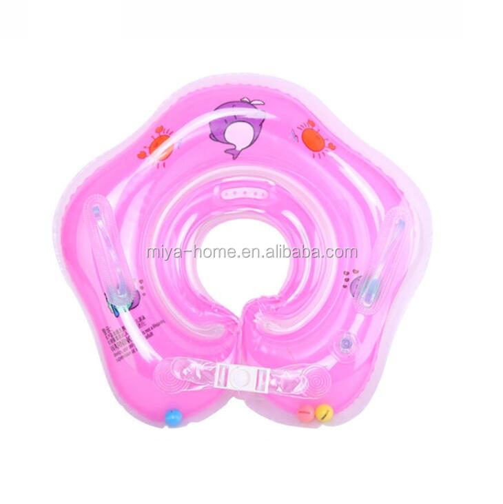 High Quality Baby Floating Swim Ring / PVC Infant Inflatable Swimming Pool Bath Neck Ring / Colorful  Swim Ring Float circle