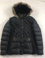 customized warm winter long padding coat ladies fashion design jackets for woman