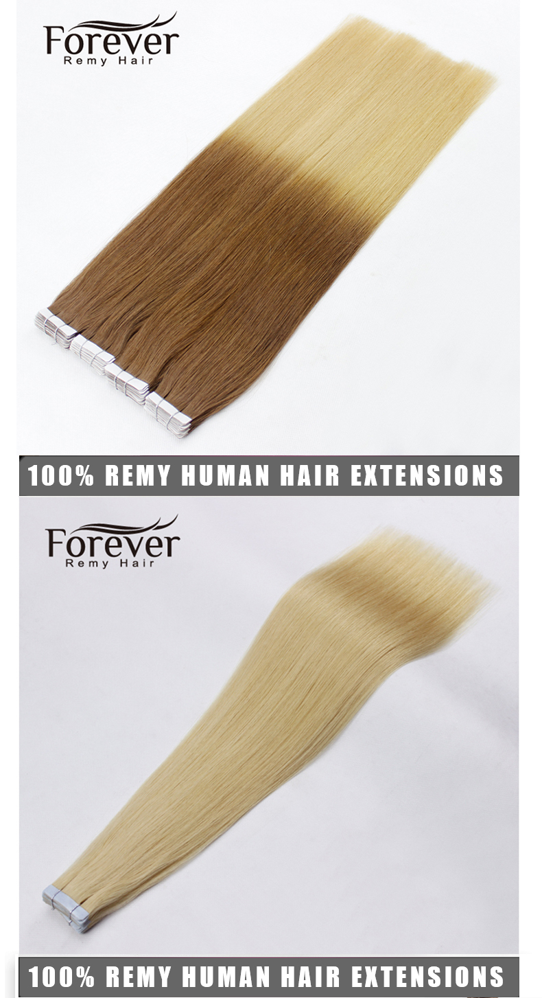 ready to shipping Double Drawn skin weft Hair 8 - 40 Inch Remy Tape In Hair Extensions Human Hair