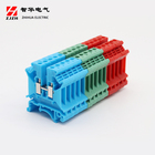 Double 2 Din UK-4/1X2 Double Layer 1 In 2 Out 3 Way Din Rail Terminal Block
