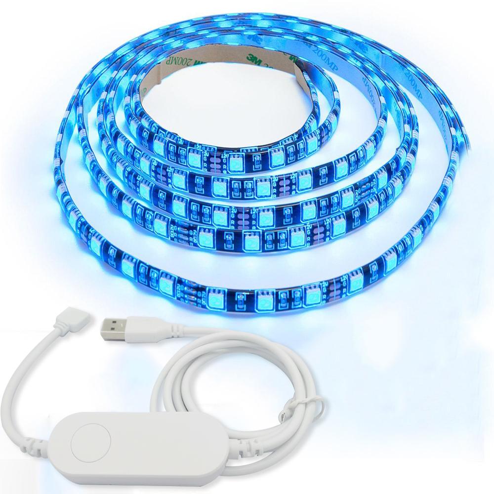Wetrendy WiFi India smart LED Smart Controller 1M-5M Light Strip LED Kit 5050 LED Lights 5V led tape for alexa