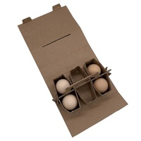 6 eggs packaging boxes with handle 6 beer handle boxes thick paperboard box customized design and printing