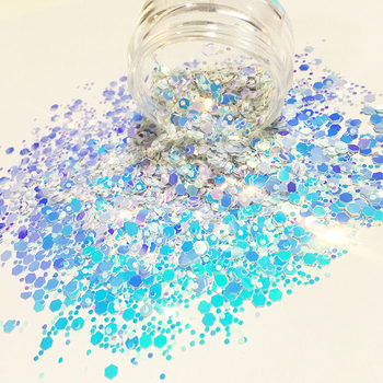 Hot selling mixed chunky color shift glitter color change glitter powder