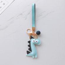 Кожаный брелок для ключей Llaveros Kawaii, кожаный брелок для ключей, рюкзак с подвеской, подарок для детей(Китай)