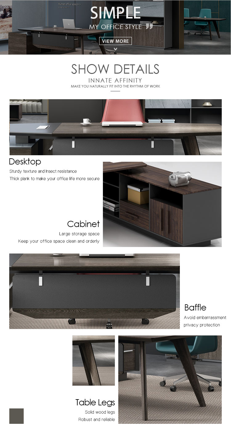 China manufacturer modern office furniture melamine luxury office desk