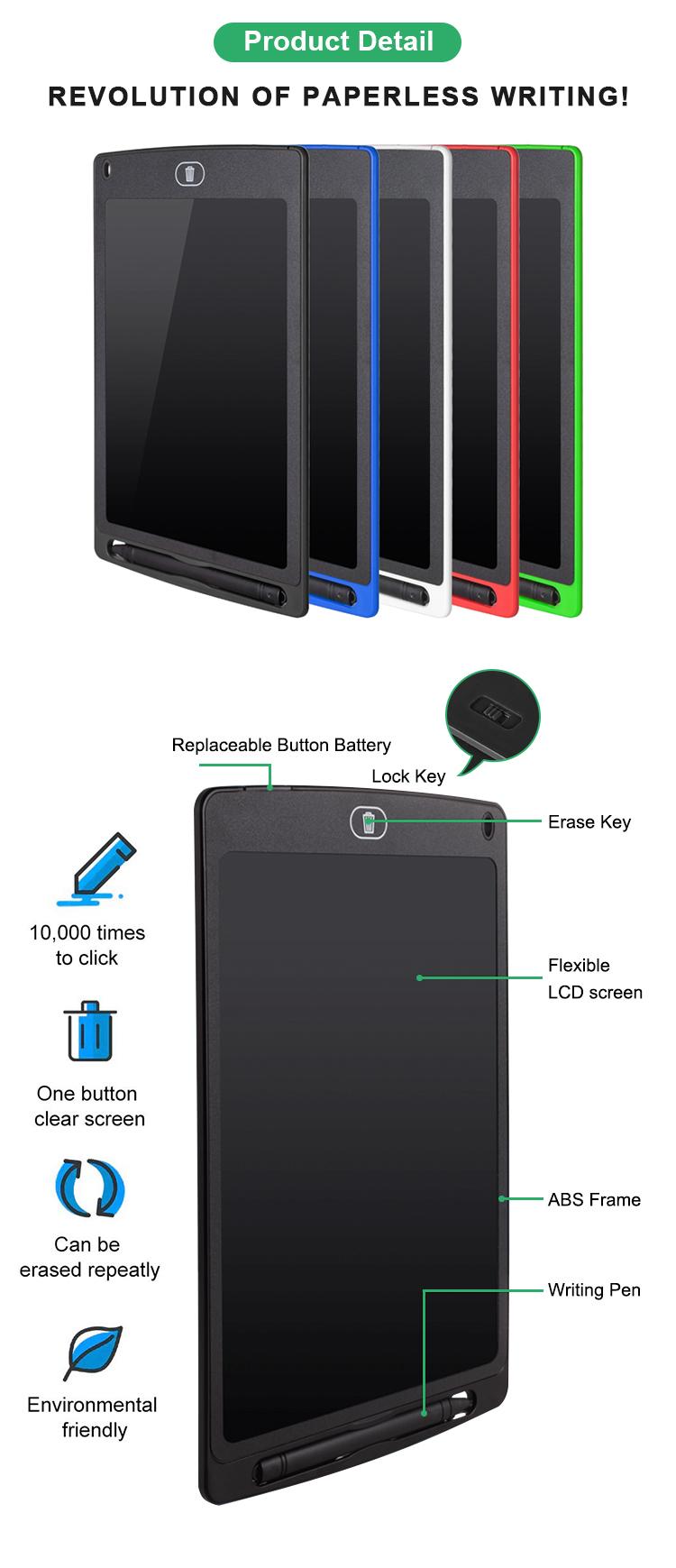 Newyes ขายส่งเขียนแท็บเล็ตคณะกรรมการจอแอลซีดี 8.5 นิ้วกระดานดำอิเล็กทรอนิกส์สำหรับเด็ก