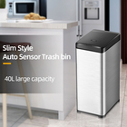 10Gallon 42L Intelligent Auto Sensor Automatic Smart Garbage bin Big Large indoor household Kitchen office hotel stainless steel