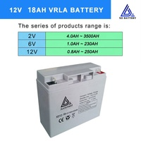 High quality good cost performance storage rechargeable 12v 18ah battery