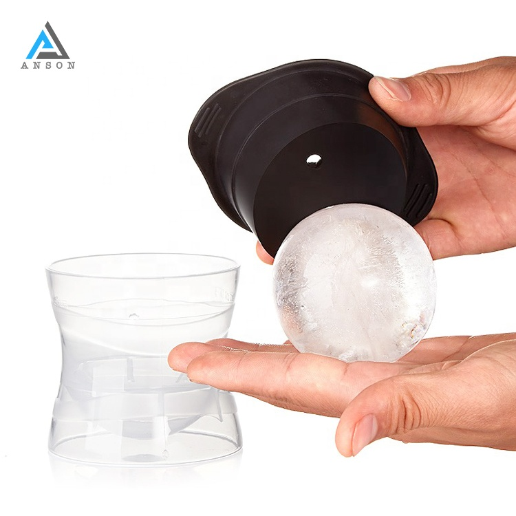 2.5 INCH Stapelbaar Colossal Spheric Cube Ice Ball Tray Mold Voor Professionele Cocktails Mocktails