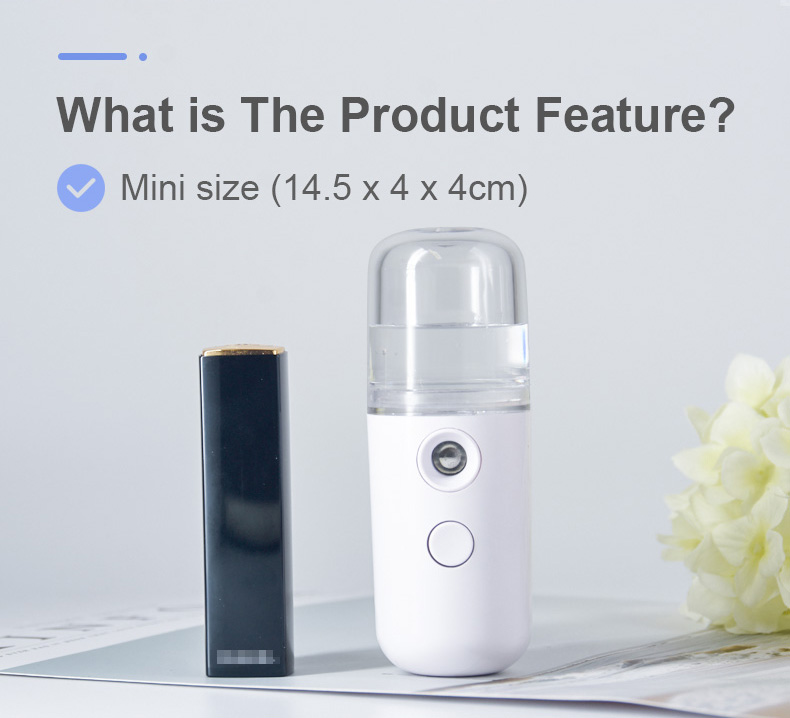 2020 beauty skin care mini spray electric water fine facial nano mist sprayer