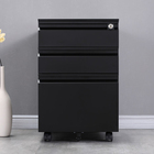 Office documents storage steel 3 drawer mobile filing cabinet
