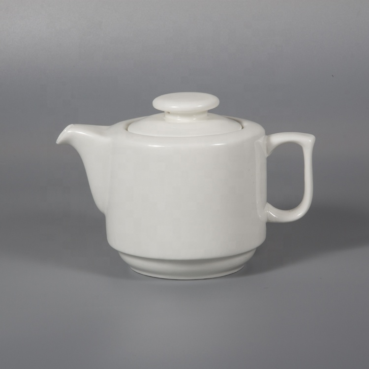 P&T Royal Ware Wholesale white porcelain restaurant tea pots with cup