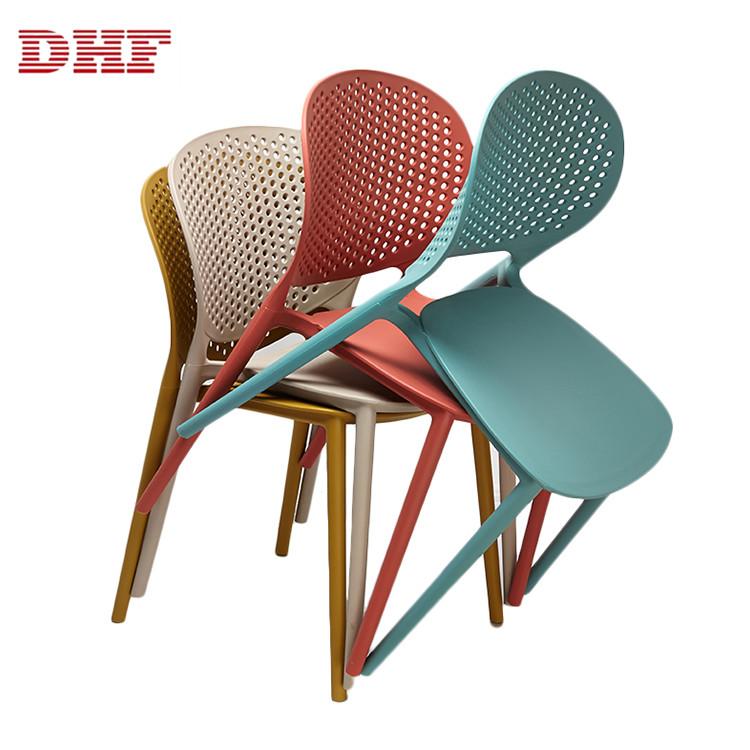 Sedie Di Plastica Colorate.Di Alta Qualita Cina Posteriore Traspirante Colorato Da Pranzo