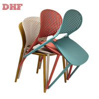 High Quality China Back Breathable Colorful Dining Stackable Plastic Chairs