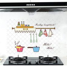 60*90 см кухонные анти-масляные наклейки высокотемпературные водонепроницаемые обои наклейка домашний декор самоклеющиеся наклейки из алюм...(Китай)