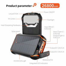 Wasserdicht Dual USB 26000mAh Solar Power Banken 30000mah Solar Power Bank