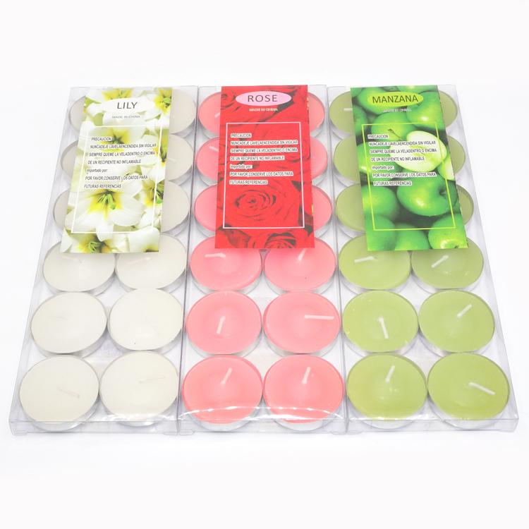 공장 도매 tealight 촛불 항아리 6g 12pc/pvc 상자
