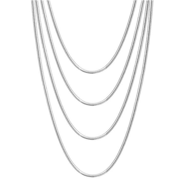 0.9m 1.2 millimetri 1.5 millimetri 1.9 millimetri In Acciaio Inox Serpente Collana In Argento Nero Catena D'oro Per Le Donne Degli Uomini