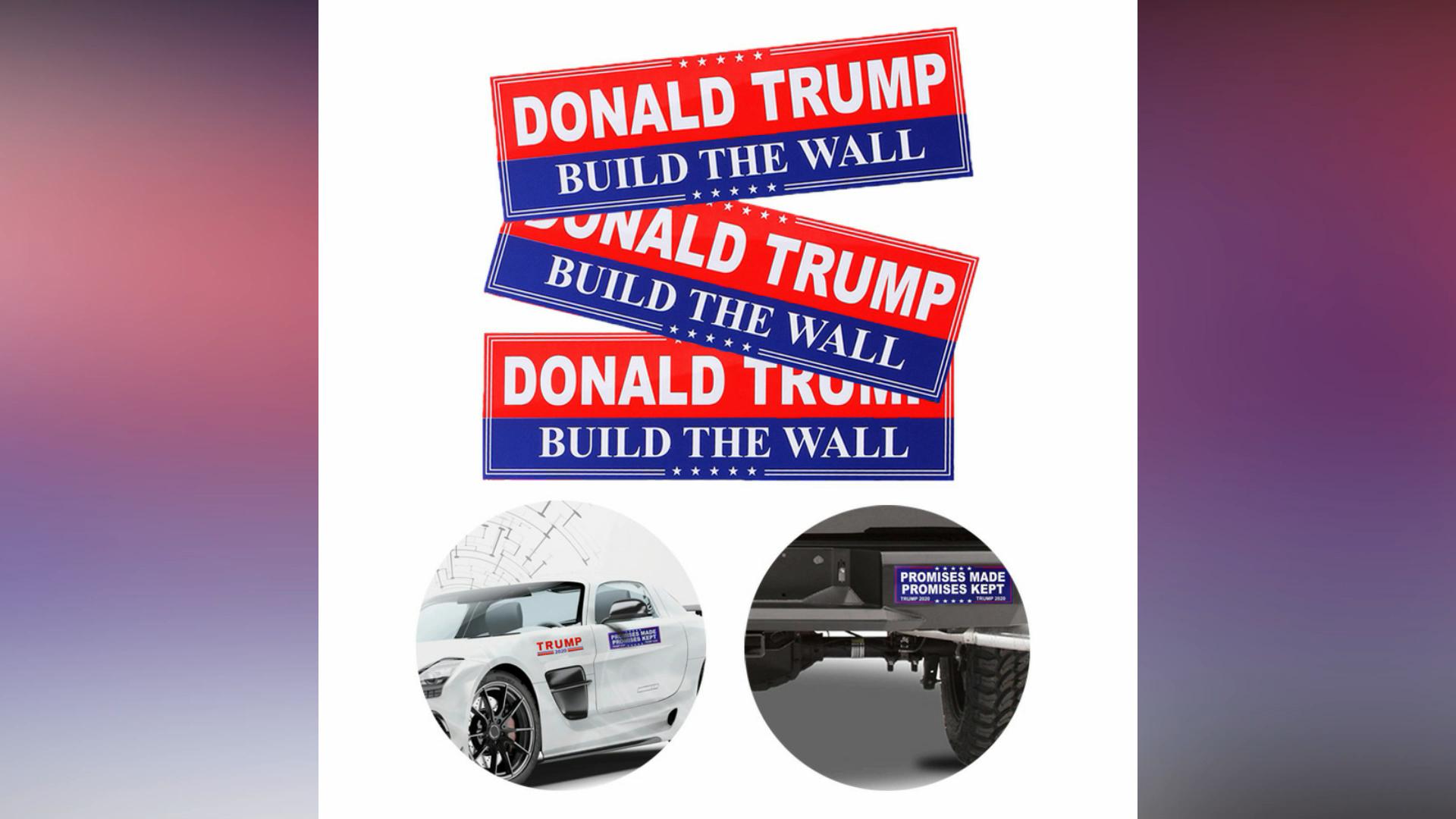 Ride Along With President Trump Waterproof Using Die Cut Vinyl Car Trump Motorcycle PVC Car trump window Sticker