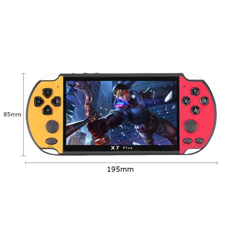 X7 Plus Handheld Retro Game Console 5.1 inch IPS Screen Built-in 200 Classic Games 8GB Video Game Player
