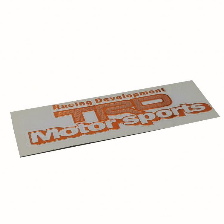 Custom Gratis Ontwerp Electroform Metalen Logo Nikkel Sticker