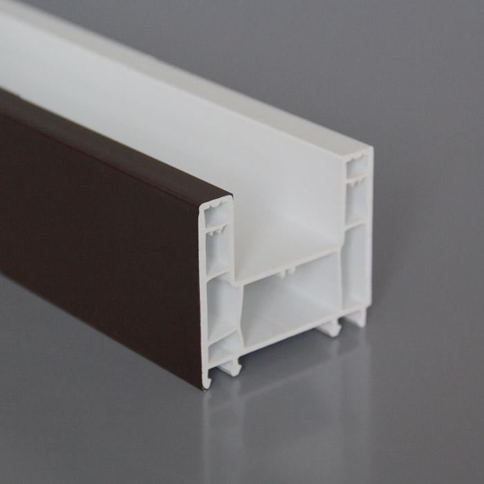 60mm Casement Style PVC U Profiles Durable uPVC Windows Profile Materials