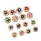 Fashion Round Metal Buttons Custom High Quality Hand Sewing Buttons For Clothing Accessories