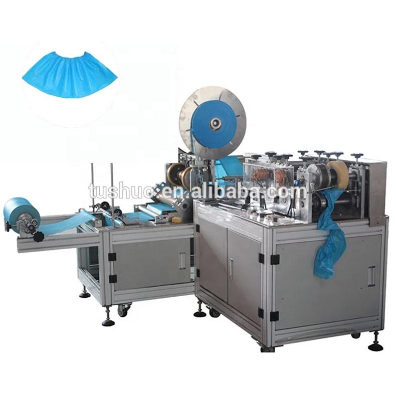 Üretici fabrika tek kullanımlık galoş yapma makinesi