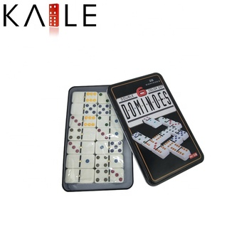 Color Double Six Professional Dominoes Blocks with Metal Nail