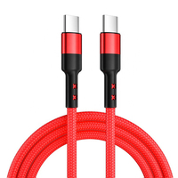 High quality 5A 60W C laptop cable Nylon braided quick charging USB cable iPad mobile phone charging cable