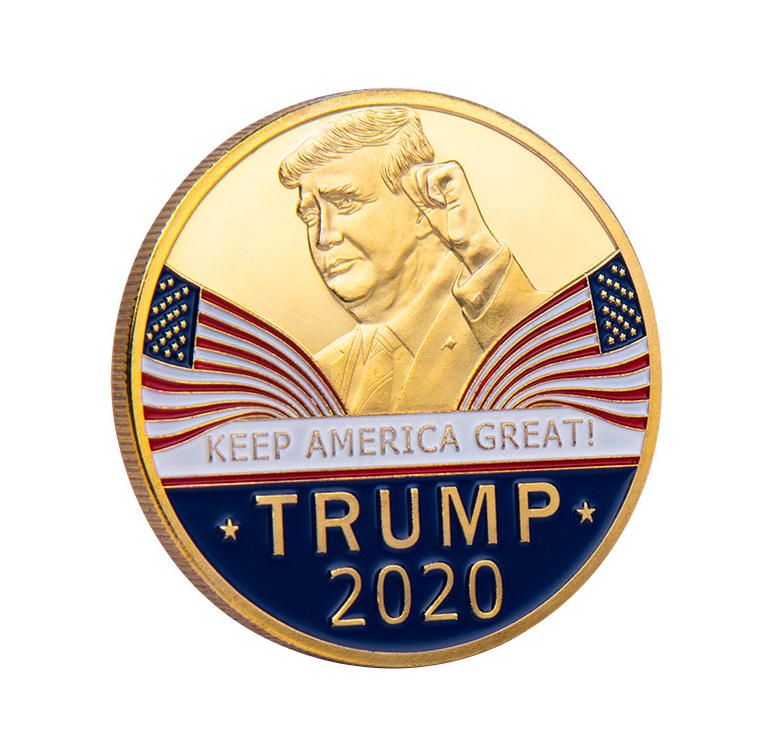 2020 Hotselling New Design Custom Eagle Golden Silver Donald Trump Commemorative Coin
