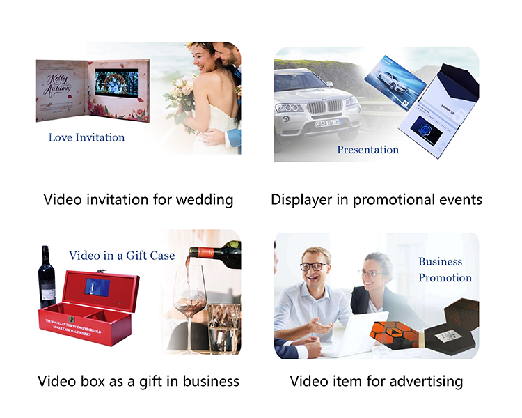 15 Years Factory Free Sample High Quality Custom Digital Lcd Screen chinese homemade video brochure
