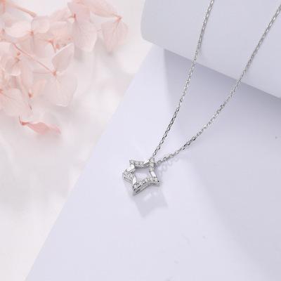 SAF fünf sterne Sterling Silber Stern Halskette Halskette Sterling Silber 925 Sterling Silber Kette Halskette