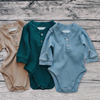 organic ribbed cotton baby newborn jumper plain long sleeve boutique kids clothes baby romper
